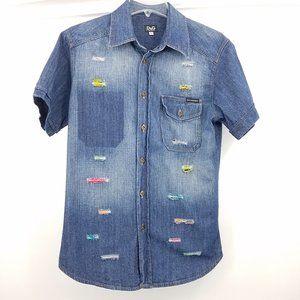 D&G Dolce & Gabbana Jean Button Down Shirt